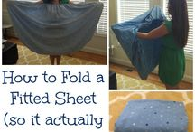 How to fold linen / Bedroom
