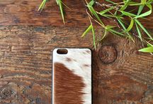 Kenzii Phone Covers / Gorgeous hide hard covers for iPhone 6+, iPhone 6 and iPhone 5.