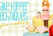 Cake Toppers Techniques Class / Anne Heap teaches you how to model cake toppers that are too adorable for words. Learn how to color, structure and form gum paste into a sleeping baby, a sitting boy, a sitting pregnant lady and a standing woman. Adorn your cakes with these colorful figurines and apply the techniques learned in class to model an endless variety of cute characters.  / by Pink Cake Box