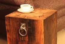Chunky wooden side table