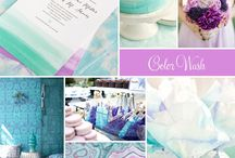 Lilac and Blue Wedding