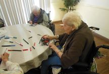 Arts & Crafts at Regency Oaks Post Acute Center  / The New Year is upon us, so to start the year helping others, we visited local seniors and elderly in Long Beach for a fun velveteen poster decorating activity at Regency Oaks Post Acute Center / by A-1 Home Care, A-1 Domestic Professional Services