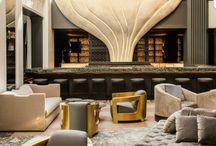 hotel spaces, restaurants, public spaces