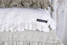 linens, curtains, cushions