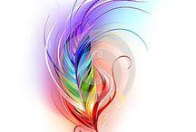 Татуировки в виде перьев