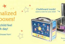 Personalized Lunchboxes / Our personalized lunch boxes make your child feel special every day! Each one of our lunch boxes features your child's name on multiple sides. On the inside lid, there's a chalkboard where you can write a personalized note to your child each morning!  Safe for storing food, our lunch boxes are made of tin and contain no lead. They're also great for storing toys and other treasures! / by I See Me! Personalized Children's Books