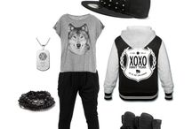 kpop outfits / kpop inspired (or you could call it the outfits with black jeans, why tho why is it always black jeans)