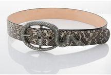 Snakeskin belts by Annie Diamantidis