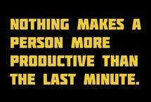 Procrastinators unite! (Tomorrow)