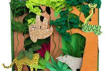 Animal habitats Art / Art ideas