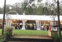 Marquee wedding / Free Standing Marquees.   Suitable for any surface, have no centre Poles and can feature clear walls, clear ceiling, silk lining ... divine!