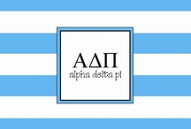 { pi love } / The first secret society created for women in 1851, Alpha Delta Pi is home to more than 215,000 women. Alpha Delta Pi is committed to sisterhood, values and ethics, high academic standards and social responsibility. We live for each other! / by Erin Davis