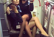 Stewardess pinup