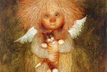 Ангелы и коты Галины Чувиляевой