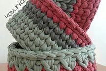 recipientes en crochet