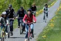 La Route des Champs – Piste cyclable / La Route des Champs est un parcours de près de 40 kilomètres situé au cœur de la Montérégie où différentes activités peuvent être pratiquées : vélo, patins à roues alignées et randonnée pédestre. Cette piste permet d'effectuer de manière quasi rectiligne le trajet reliant les villes de Richelieu à Granby, tout en découvrant les municipalités de Marieville, Sainte-Angèle-de-Monnoir, Rougemont, Saint-Césaire et Saint-Paul-d'Abbotsford avec leurs paysages champêtres et pittoresques.