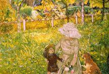 Art: Vuillard, Bonnard / Colorful paintings by Edouard Vuillard and Pierre Bonnard.