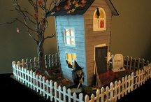 Altered Miniature Houses and Birdhouses
