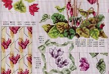 cross stitch cyclamen