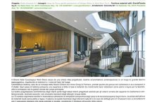 100 PROGETTI ITALIANI / A volume, published by Dell'Anna Editore, where the best 100 Italian Projects are featured.  Two of our projects are listed, one is an hotel project, the other is an office project.
