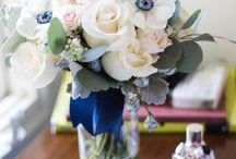 Navy Blue Compote Floral Ideas