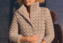 вязаное пальто/crochet-knit coat