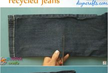 DIY jeans / denim ideas / DIY crafts from old jeans