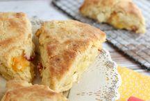Scones / Nectarine & white choc scones