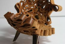 Travail du cuir, works with leather / handicraft and design furniture
