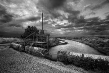 Art N&B paysage / paysage actuel en noir et blanc