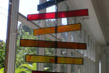 Stained glass mobile