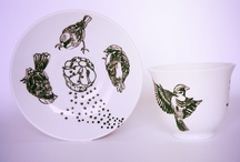 Hunt / Hand-painted porcelain by Collectilovely Imaginative © visit  https://www.facebook.com/collectilovelyimaginative