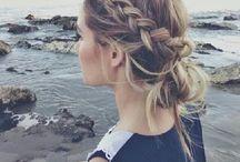 Hair styles / #hairstyles #messyhair #messyupdo #topknot #braid