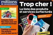 Revue de presse septembre 2015 / Présentation des Une des différentes revues du cdi