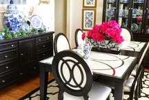Dining Room Ideas / Blue and White Ginger Jars!!!!