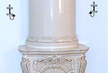 Antique swedish tile stoves