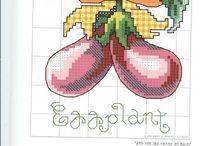 Cross stitch veggies