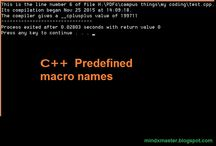 C++ -Some useful standerd Predefined macro names http://mindxmaster.blogspot.com/2015/11/c-some-useful-standerd-predefined-macro.html