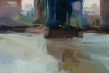 Landscape abstract art.