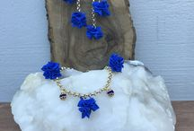 Cloth jewels / Bijoux originali, io sono la ideatrice di questi gioielli realizzati in tessuto