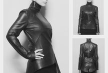 THIRTEEN women's jacket / Geometric shapes and asymmetry of lines, combination of flat and three-dimensional elements, precision in every detail...