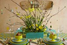 Welcome spring centrepieces
