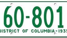 District of Columbia License Plates Washington D.C. License Plates / District of Columbia License Plates Washington D.C. License Plates
