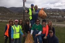Edwards' Rotarians help out at recent Vail hwy clean up. / Giving back to community is so intrinsically rewarding.