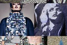 Colour mosaics and mood boards