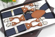 BRET020 / Fashion Inspiration for our Suspenders Blue Striped