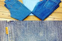 70's Demin Flared Jeans