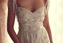 Anna Campbell's wedding dresses