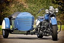 Sidecar / Wheel-chair with the motorcycle or sidecar