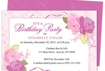 Birthday Invitation Templates For Any Party / A collection of predesigned birthday party invitation templates that you can create yourself with Word, Publisher, OpenOffice, Apple iWork Pages. Printable template, editable on your computer.